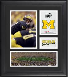 Tom Brady Michigan Wolverines Framed 15'' x 17'' Collage - Mounted Memories