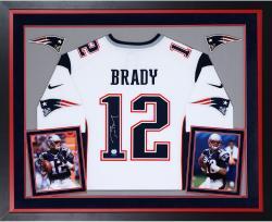 Tom Brady Framed Autographed Patriots Jersey