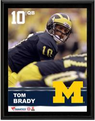 Tom Brady Michigan Wolverines Sublimated 10.5'' x 13'' Plaque - Mounted Memories