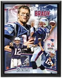 New England Patriots Tom Brady 10.5'' x 13'' Plaque - Mounted Memories