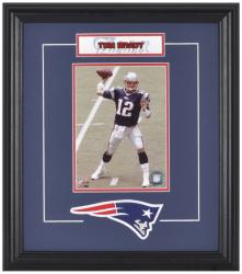 New England Patriots Tom Brady Framed Photo - Mounted Memories