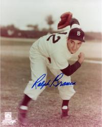 Ralph Branca Autographed Dodgers 8x10 Photo