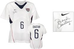 Brandi Chastain Team USA Autographed White Jersey