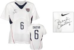 Brandi Chastain Team USA Autographed White Jersey