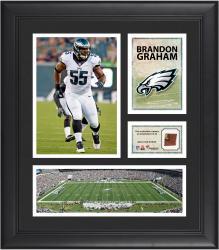 Brandon Graham Philadelphia Eagles Framed 15'' x 17'' Collage with Game-Used Football