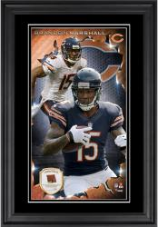 Brandon Marshall Chicago Bears 10'' x 18'' Vertical Framed Photograph with Piece of Game-Used Football - Limited Edition of 250