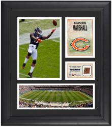 Brandon Marshall Chicago Bears Framed 15'' x 17'' Collage with Game-Used Football - Mounted Memories