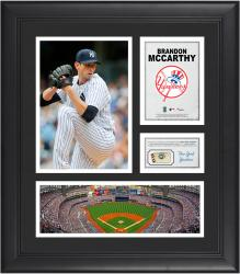 Brandon McCarthy New York Yankes Framed 15'' x 17'' Collage with Piece of Game-Used Ball