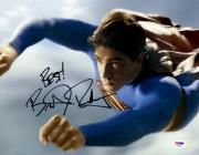 "Brandon Routh Autographed 11"" x 14"" Superman Flying Photograph with Best! Inscription - PSA/DNA"