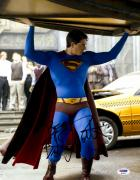 "Brandon Routh Autographed 11"" x 14"" Superman Holding Car Photograph with Best! Inscription - PSA/DNA"