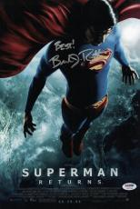Brandon Routh Signed Superman Returns 10x15 Movie Poster Psa Coa W37784