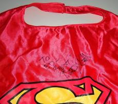 BRANDON ROUTH signed *SUPERMAN RETURNS* cape W/COA CLARK KENT