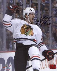 "Brandon Saad Chicago Blackhawks 2013 Stanley Cup Champions Autographed 8"" x 10"" Celebrate Photograph"