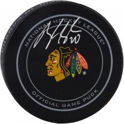 Brandon Saad Chicago Blackhawks Autographed Official Game Puck