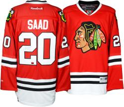 Brandon Saad Chicago Blackhawks Autographed Premier Red Jersey - Mounted Memories