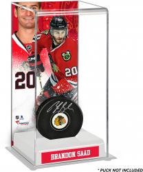 Brandon Saad Chicago Blackhawks Deluxe Tall Hockey Puck Case