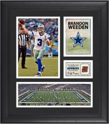 Brandon Weeden Dallas Cowboys Framed 15'' x 17'' Collage with Game-Used Football