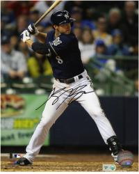 Ryan Braun Milwaukee Brewers Autographed 8'' x 10'' Photograph - Mounted Memories