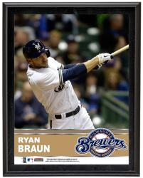 Ryan Braun Milwaukee Brewers Sublimated 10.5'' x 13'' Plaque - Mounted Memories