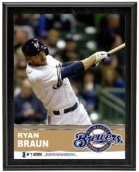"""Ryan Braun Milwaukee Brewers Sublimated 10.5"""" x 13"""" Plaque"""