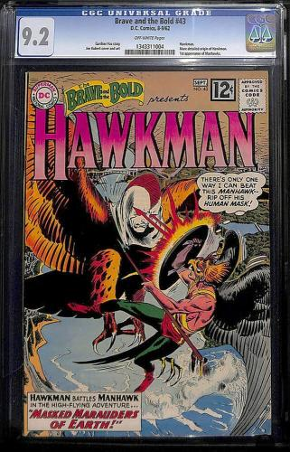 Brave And The Bold #43 (1962) Cgc 9.2 Hawkman 1st App Manhawks #1343311004 Mms