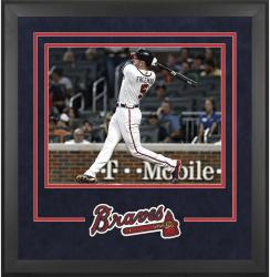 "Atlanta Braves Deluxe 16"" x 20"" Horizontal Photograph Frame - Mounted Memories"