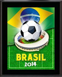 """Brazil 2014 Brazil Sublimated 10.5"""" x 13"""" Plaque"""
