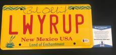 'breaking Bad' Bob Odenkirk Signed Saul License Plate Authentic Auto Bas Coa