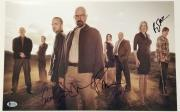 BREAKING BAD Cast (4) Signed 11x17 Photo Mitte Paul Gunn Norris~ Beckett BAS LOA
