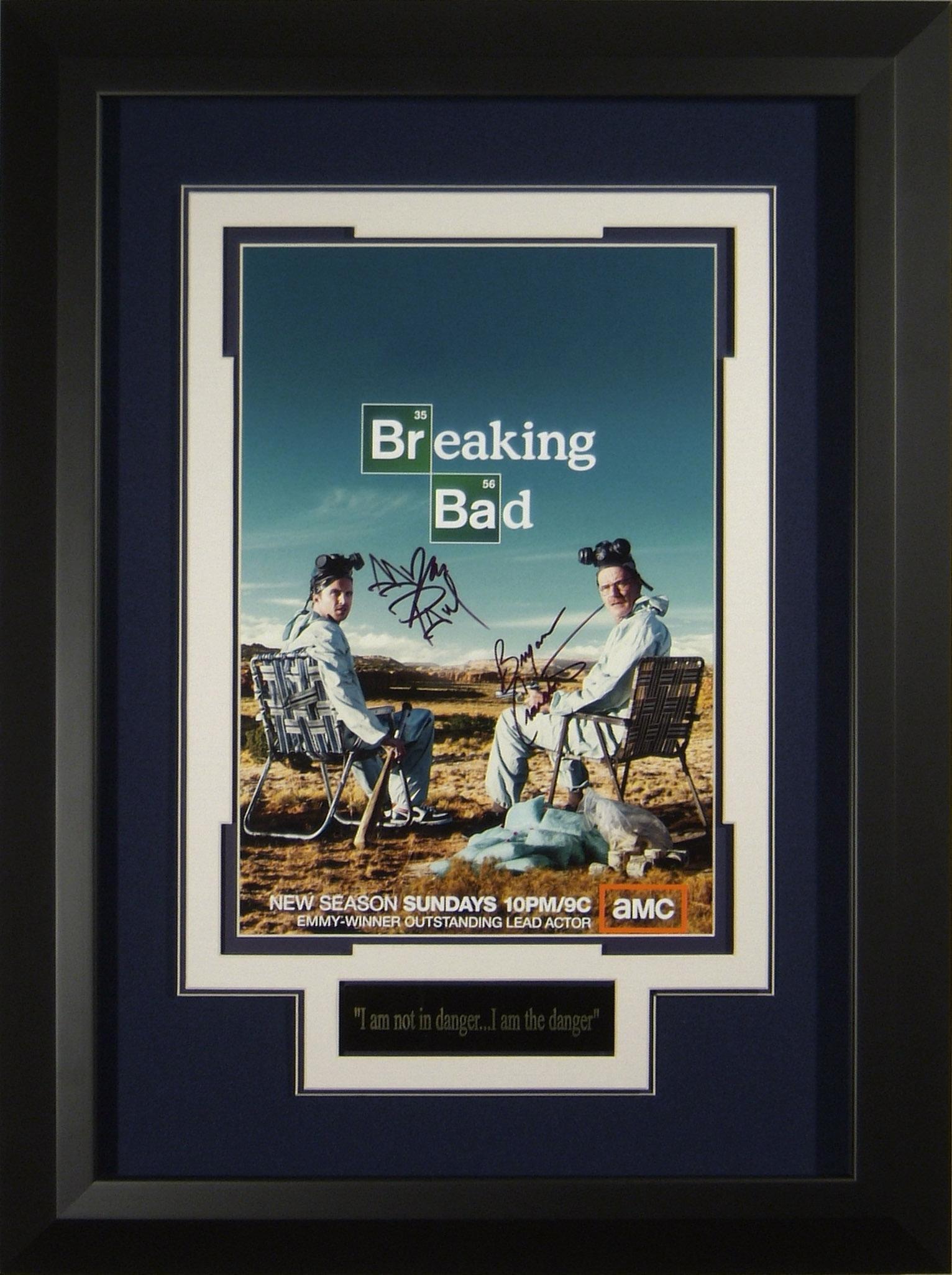 Breaking bad cast signed 11x17 poster framed display jeuxipadfo Choice Image