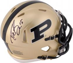 Drew Brees Purdue Boilermakers Autographed Riddell Mini Helmet - Mounted Memories