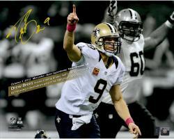 Drew Brees New Orleans Saints Fanatics Authentic Autographed 16'' x 20'' Spotlight 48 Games With Touchdown Photograph