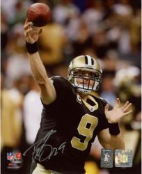 """Drew Brees New Orleans Saints Autographed 8"""" x 10"""" NFC Championship Trophy Photograph"""