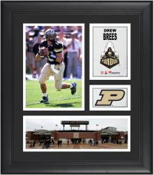 Drew Brees Purdue Boilermakers Framed 15'' x 17'' Collage - Mounted Memories