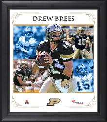 "Drew Brees Purdue Boilermakers Framed 15"" x 17"" Core Composite Photograph"