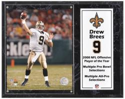 "Drew Brees New Orleans Saints Sublimated 12"" x 15"" Player Plaque - Mounted Memories"