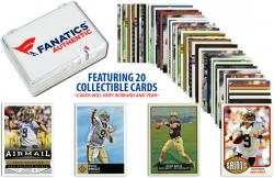 Drew Brees New Orleans Saints Collectible Lot of 20 NFL Trading Cards - Mounted Memories
