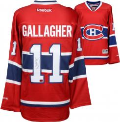 Brendan Gallagher Montreal Canadiens Autographed Red Reebok Premier Jersey