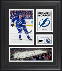 """Brenden Morrow Tampa Bay Lightning Framed 15"""" x 17"""" Collage with Piece of Game-Used Puck"""