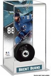 Brent Burns San Jose Sharks Deluxe Tall Hockey Puck Case