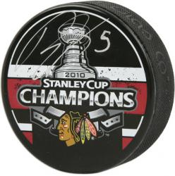 Chicago Blackhawks Brent Sopel 2010 Stanley Cup Champions Autographed Puck