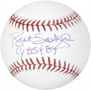 Bret Saberhagen Kansas City Royals Autographed Baseball with 85/89 CY Inscription