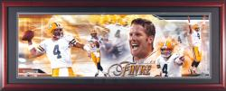 Brett Favre Green Bay Packers Framed Unsigned Panoramic Photograph - Mounted Memories