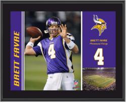 "Minnesota Vikings Brett Favre 10.5"" x 13"" Sublimated Plaque"