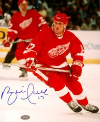 "Detroit Red Wings Brett Hull Autographed 8"" x 10"" Photo"