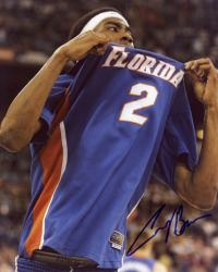 Corey Brewer Florida Gators Autographed 8'' x 10'' Grabbing Jersey Photograph - Mounted Memories