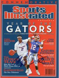 Corey Brewer & Chris Leak Florida Gators Autographed Sports Illustrated Year of the Gators Magazine