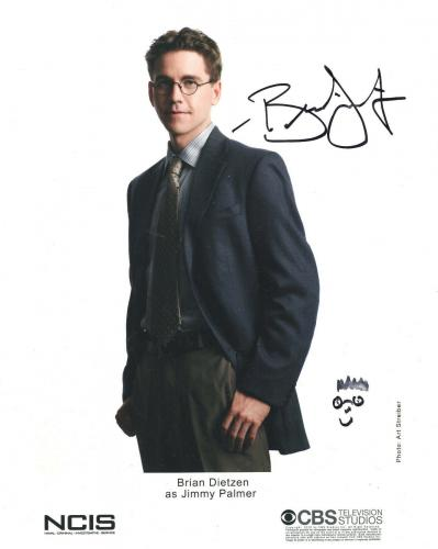 BRIAN DIETZEN HAND SIGNED 8x10 COLOR PHOTO+COA         JIMMY PALMER FROM NCIS