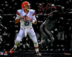 Brian Hoyer Cleveland Browns Autographed 11'' x 14'' Spotlight Photograph