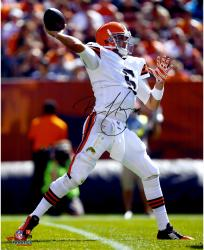 Brian Hoyer Cleveland Browns Autographed 16'' x 20'' Over The Top Throw Photograph